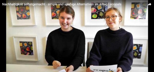 Julia und Marlene klären über nachhaltige Produkte auf